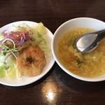 88128930 - ランチセットのスープとサラダ