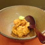 鮨 そえ島 - ◆雲丹リゾット・・ご飯にもタップリ雲丹が混ぜられていて、雲丹好きとしては嬉しい。
