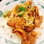 日高屋 - 黒酢しょうゆ冷やし麺とやきとり丼