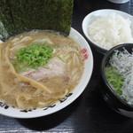 88137687 - らあ麺海苔まし+しらす丼+ライス