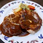 マツダ - 料理写真:ハンバーグ&チキン