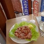 丘珠キッチン - イベントメニューのディスプレイ;食品サンプルは松本市サンが持参した様です(^^;) @2018/06/24