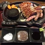 Steak & Sports Diner スーパースター - サーロインステーキ200グラム。