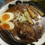 らーめん おっぺしゃん - 魚介豚骨醤油ラーメン + 味玉(サービス)