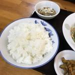 龍喜 - 回鍋肉定食 ごはん