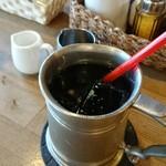 マンガ館ヴィラ  - 食後のアイスコーヒー