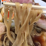 とりそばモリゾー - 幅広麺あっぷ☆⌒ヽ(^o、^)و