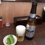 とりそばモリゾー - 1本め〜(^ω.^)/¥100円