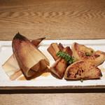 やさい家めい 表参道ヒルズ本家 - 筍の山椒ステーキ