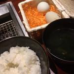 焼肉門門 - 卵かけご飯