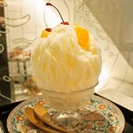 お茶と酒 たすき - 杏仁豆腐の白くま