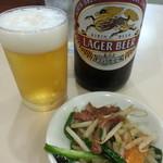 大勝軒 - 瓶ビール(おつまみ付)2018.6.23