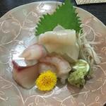 小太郎 - お造り 本日のお勧め3種盛り 1000円より