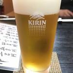 小太郎 - キリン一番搾り生ビール(中) 550円
