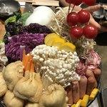 宮がみ屋 - カレー鍋のお野菜 全て大阪産だそうです( ^ω^ )