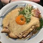 宮がみ屋 - 阿波尾鶏のタタキ 山芋トロロ掛け