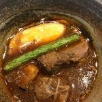 宮がみ屋 - なにわ黒牛のスネ肉デミグラススープ