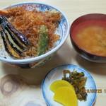 藪そば - 料理写真:天丼(全景)