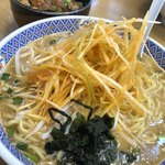 らーめん花楽 - 料理写真:ネギ味噌ラーメン(大盛)800円 チャーシュー丼 290円  麺類300円割引特別クーポンを使用