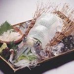魚の蔵 - 料理写真:あおりいかの活き造り 2,800円より  下足の吸盤にご注意!