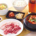 国産牛焼肉くいどん - 【ランチ】サービス焼肉セット(スープ→カルビスープに変更)