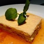 銀座 麒麟 - クリームチーズと杏子のミルフィーユ杏露酒ジャム仕立て