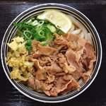 麺処 綿谷 - 肉ぶっかけ @420円 トッピングの天かすが磯部でザクザクなのもいい。