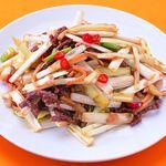 台湾料理故宮 - 黄ニラと牛肉の炒め