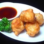 台湾料理故宮 - 屋台のイカ団子