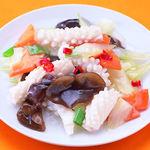 台湾料理故宮 - イカとセロリのさっぱり炒め