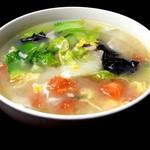 台湾料理故宮 - 野菜たっぷりスープ