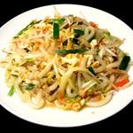 台湾料理故宮 - 炒米苔目麺!!!!台湾の焼きうどん。珍しい麺です。モチモチ!!!