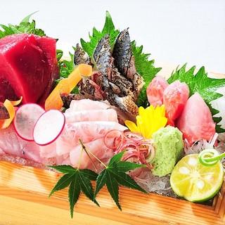 旬の味覚!素材の味が旨い、産直鮮魚を心ゆくまでご堪能!