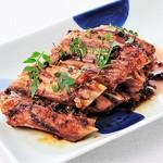 鮪ヒレ肉の山椒醤油焼き
