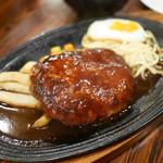 キッチン チェック - ハンバーグ定食 ¥1,000