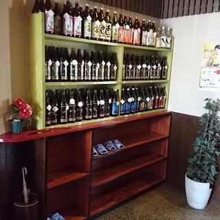 """日本酒や焼酎は7~8種ご用意。""""あじゃ""""などの珍しいお酒も◎"""