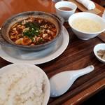 Kagurazakaryuukoutei - こちらが土鍋麻婆豆腐セットです