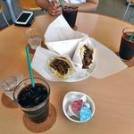 味付マトンケバブcafe - 料理写真:味付マトンケバブセット(アイスコーヒー)