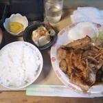 十三屋 - 生姜焼き定食 700円(2018年6月25日撮影)