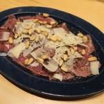 88208416 - 牛肉のカルパッチョ 胡麻油で