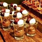 テーブル ビート - ローズマリーのチョコフォンデュ@ローズマリーの香りで高級感あるチョコクリームにマシュマロ、ブラックチェリー