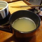 元祖鴨南ばん本家 - 蕎麦湯