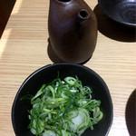 88216161 - 湯豆腐鍋の薬味