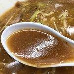 ケラン - ポロ葱味噌ラーメンのスープ