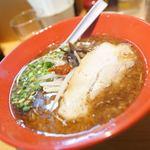 博多ラーメン ばりきや - ばりこて麺赤