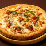 海老とジェノベーゼのホワイトクリームピザ