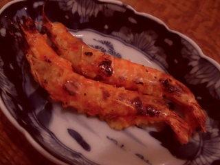 東白庵かりべ - 海老味噌焼き