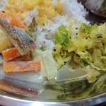 インド食堂ワナッカム - ・クートゥ(左)、ポリヤル(右)