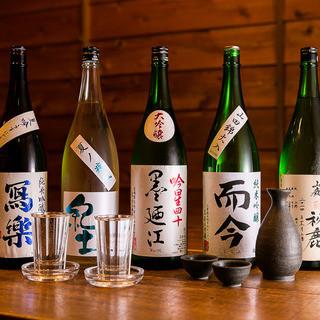 こだわりの日本酒、豊富なドリンクメニュー