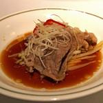 中国飯店 - 霜降り和牛の湯引き 特製醤油かけ